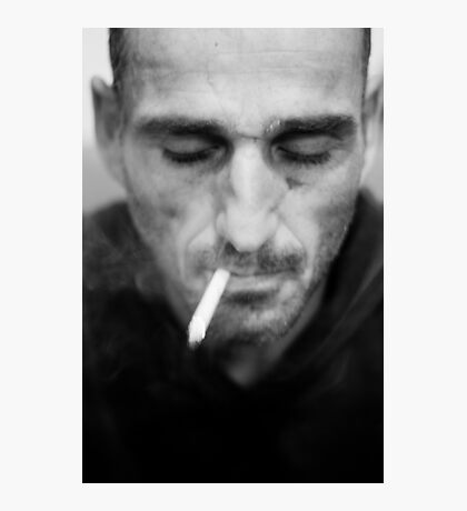 Smoking stranger Photographic Print