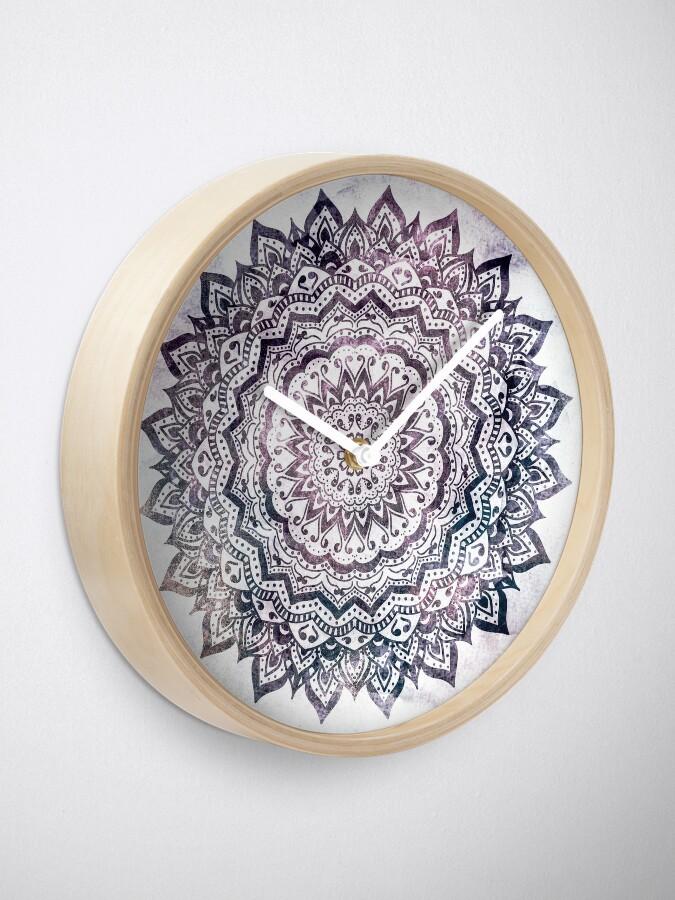 Alternate view of JEWEL MANDALA Clock