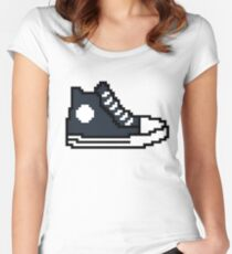 Fast and furious 8 bit shoe Ludacris / Tej Parker Women's Fitted Scoop T-Shirt