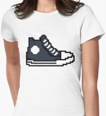 Fast and furious 8 bit shoe Ludacris / Tej Parker Womens Fitted T-Shirt