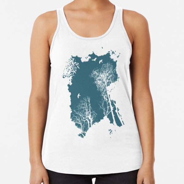 In the Forest - blue option Racerback Tank Top
