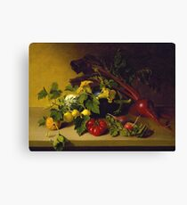 James Peale, Sr. - Still Life With Vegetables Canvas Print