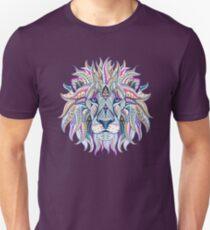 lion löwe king mandala zeichnung muster india yoga meditation beruhigung verspielt Slim Fit T-Shirt