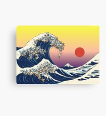 The Great Wave of Cat Canvas Print