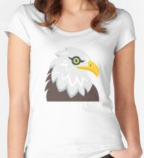 Cartoon Eagle Women's Fitted Scoop T-Shirt