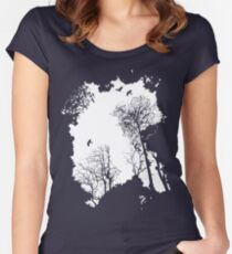 In the Forest - white option Women's Fitted Scoop T-Shirt