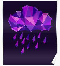 Purple Rain Pattern - Dark version Poster