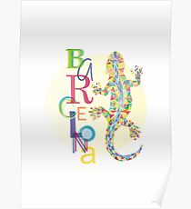 Fashion Barcelona City Lizard Poster