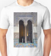 Spanish mosaic wall and arched window with column Unisex T-Shirt