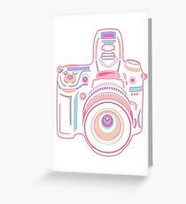 Cute Pastel Camera Greeting Card