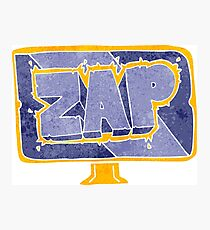 retro cartoon zap screen Photographic Print