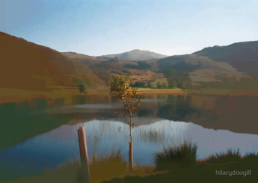 oil painting of the lake district by hilarydougill
