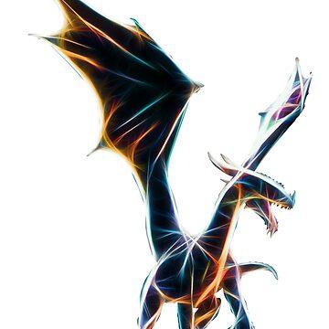 Dragon Neon Art von Reubsaet
