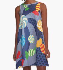 Rainbow Sugar Crush A-Line Dress