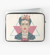 Pastel Frida - Geometric Portrait with Triangles Laptop Sleeve