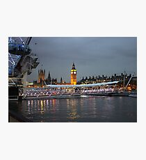 High tide on the Thames Photographic Print