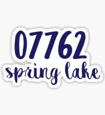 spring lake zip code Sticker