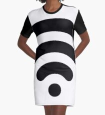 Wi-Fi Abstract Graphic T-Shirt Dress
