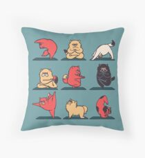 Cat Yoga Throw Pillow