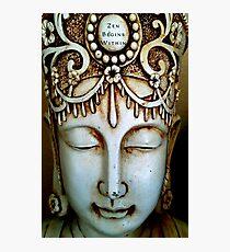 Zen Begins Within Photographic Print