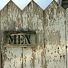 church outhouse....men! by Lynne Prestebak