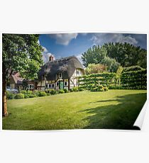 English Thatched Cottage Poster