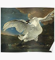 Jan Asselyn - The Threatened Swan Poster