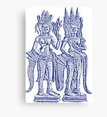 Apsara - Blue Canvas Print