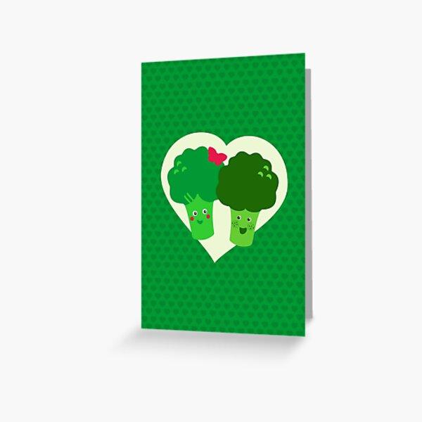 Broccoli in Love Greeting Card