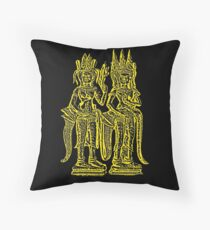 Apsara - Yellow Throw Pillow