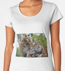 Tigers showing affection Women's Premium T-Shirt