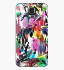 Wild strokes abstract scribbles painting - Multicolored Case/Skin for Samsung Galaxy