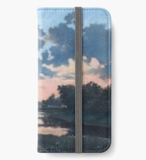 Evening over Varta river iPhone Wallet/Case/Skin