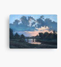 Evening over Varta river Canvas Print