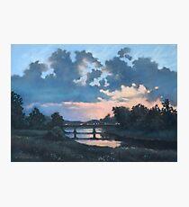Evening over Varta river Photographic Print