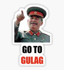 Go to gulag - Stalin parody Sticker