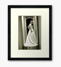 The gown Framed Print