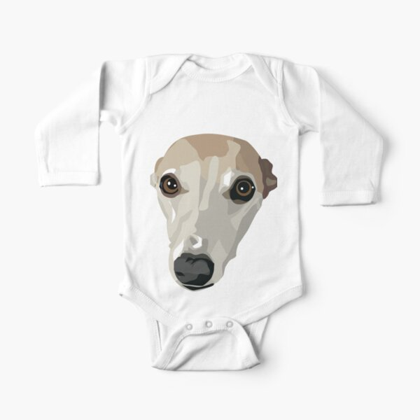 Fawn Whippet Long Sleeve Baby One-Piece