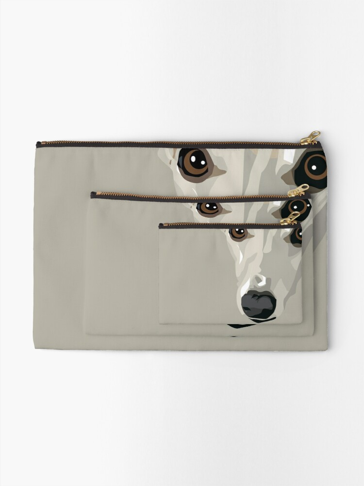 Alternate view of Fawn Whippet Zipper Pouch