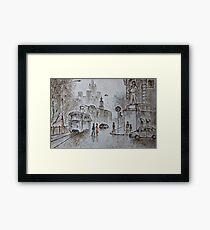 urban scene Framed Print