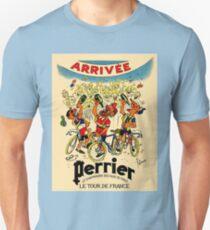 LE TOUR DE FRANCE: Vintage Perrier Water Advertising Unisex T-Shirt