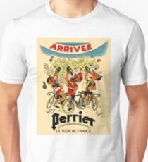 LE TOUR DE FRANCE: Vintage Perrier Water Advertising T-Shirt