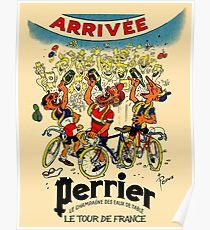 LE TOUR DE FRANCE: Vintage Perrier Water Advertising Poster