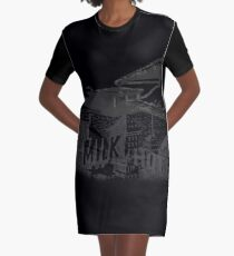 in the aeroplane over the sea Graphic T-Shirt Dress