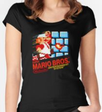 Super Mario Bros. NES Women's Fitted Scoop T-Shirt