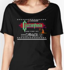 Castlevania NES title screen Women's Relaxed Fit T-Shirt