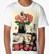 camellia tea with roses Long T-Shirt