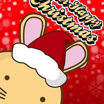 Fuzzballs Super Happy Christmas Bunny Card by rabbitbunnies