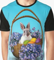 Easter Bunny Basket Graphic T-Shirt