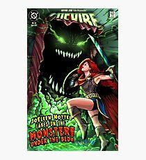 JoEllen Notte Battles The Monster Under The Bed - SheVibe Cover Art Photographic Print